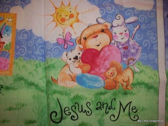 Daisy Kingdom's Jesus Loves Me Fabric Book Panel