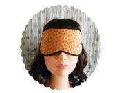 Eye mask night, pink and ocher