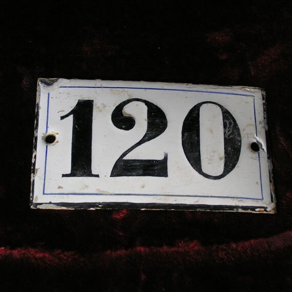 RESERVED 3 French Address enamel plate