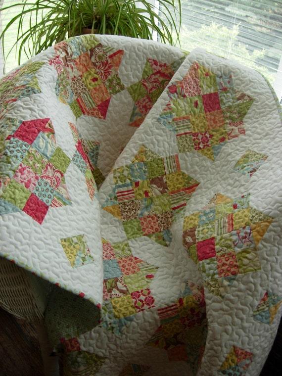 Handmade Verna Lap Quilt READY TO SHIP
