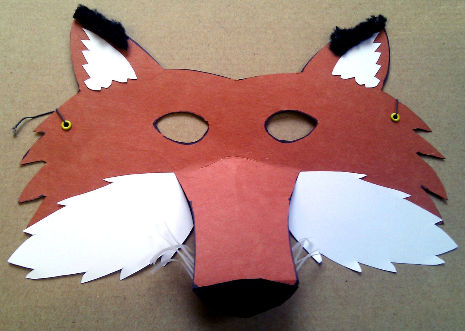 Diy fox mask the image kid has it for Fantastic mr fox mask template