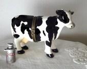 Cow Box, Black and White Cow, Porcelain Box, Faux Limoges Box,  Trinket Box, Treasure Box, Hinged Box, Jewelry Box, Farm Animal, Milkcan