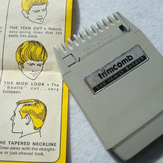 Vintage TRIMCOMB..The Family Barber..1958..USA Modern Hairstyling..POPEIL Brothers Cichago, Illinois..Dated Hairstyles .Like the MOD LOOK, etc