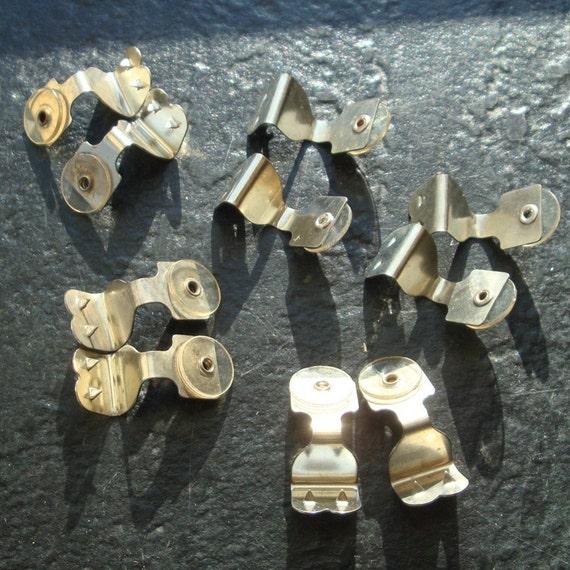 Shoe Clips, Lot of Supplies, Vintage Shoe Clip Attachment..Permanent Squeeze ON  Components..1970s..Bridal..DIY