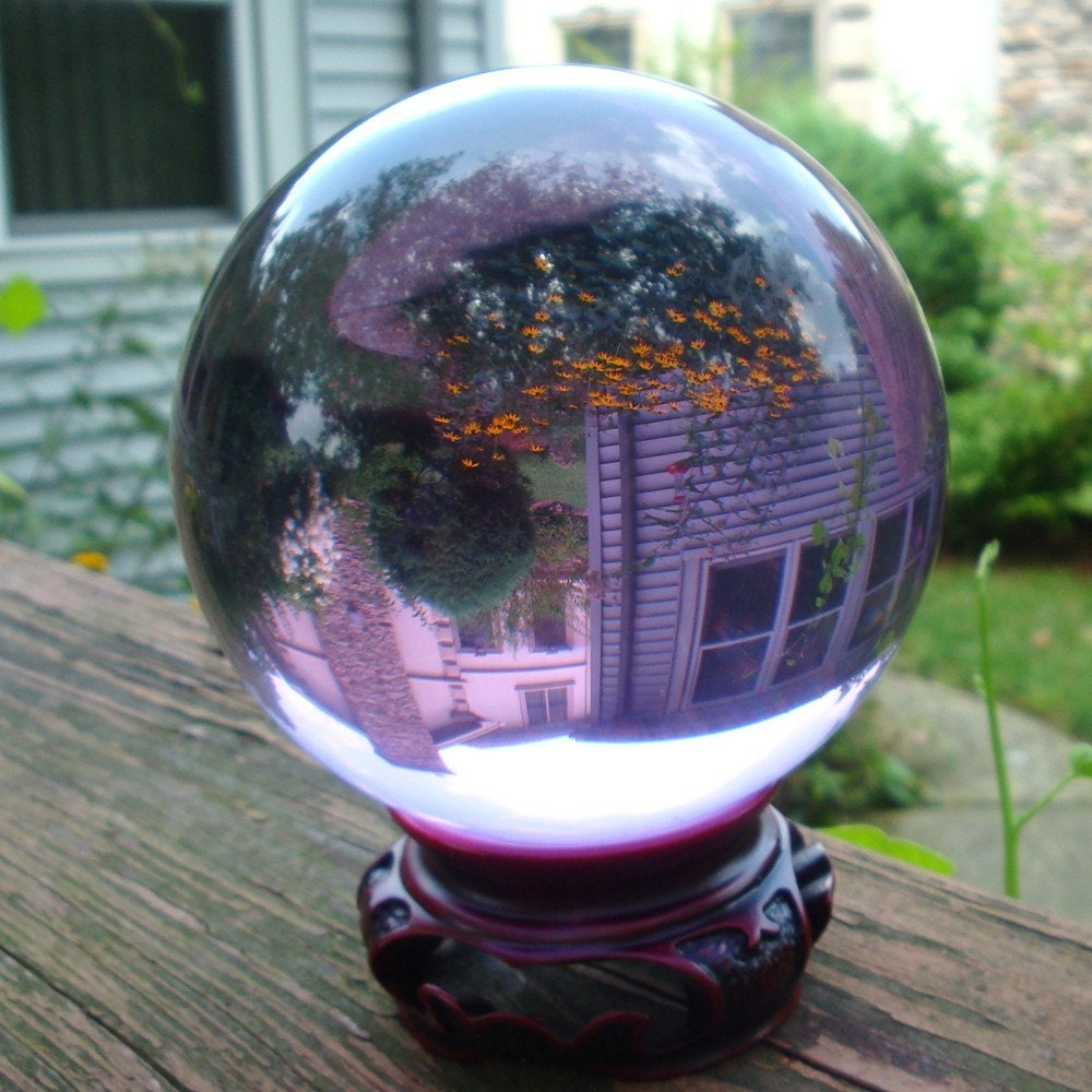 vintage crystal ball 100mm bigfor scrying by