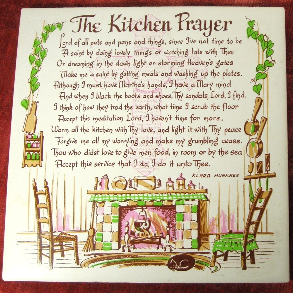 Kitchen Prayer Wall Hanging