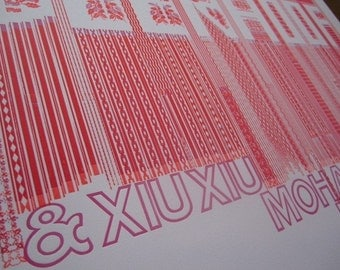 Deerhoof and Xiu Xiu Gig Poster