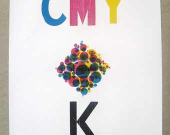 CMY is the new K Letterpress Poster