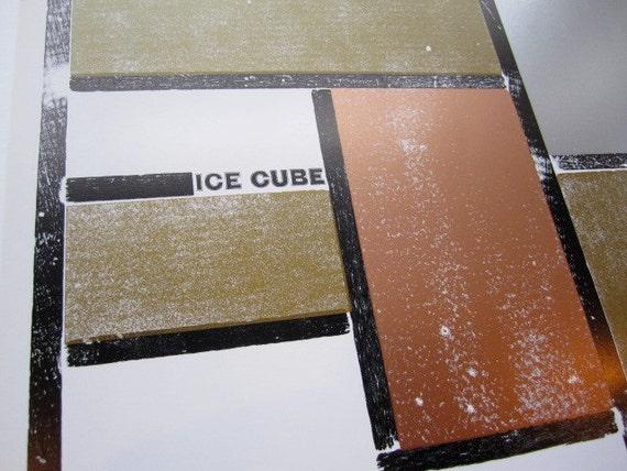 Ice Cube - Letterpress Gig Poster