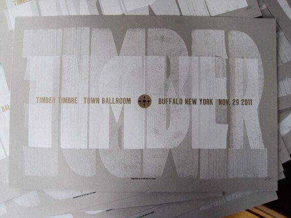 Timber Timbre 3 Color Letterpress Gig Poster