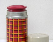 Vintag Red Black Yellow Small Thermos
