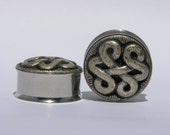 "Silver Celtic Knot Plugs 1/2"" 12mm 13mm"