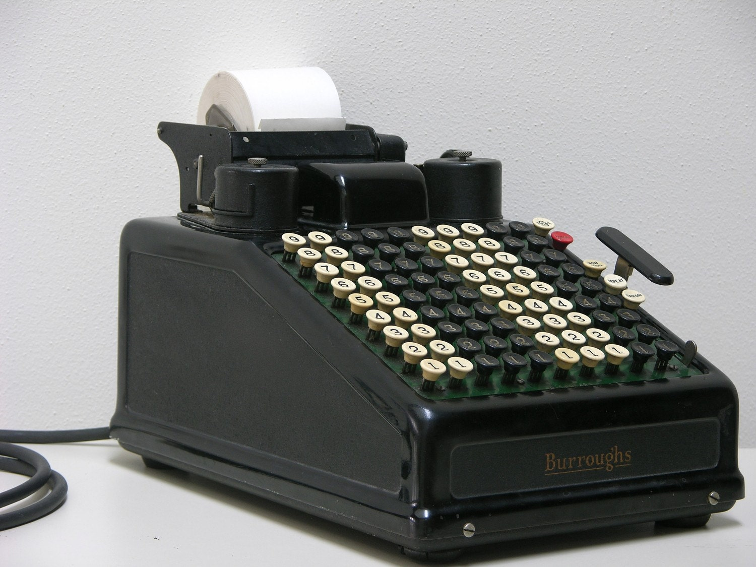Burroughs Electric Portable Adding Machine Black