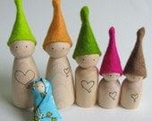 Waldorf toy - Tiny wood waldorf elf