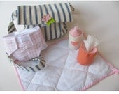 Waldorf toys Diaper bag 5 pc.set to play with your natural doll-Made to order-