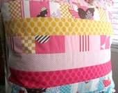 It's A Hoot Quilted Patchwork Pillow -- 20 Inches