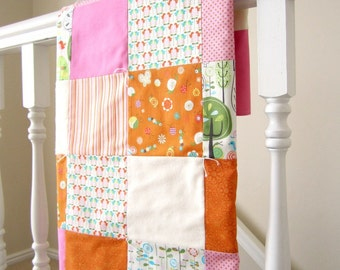 Happier Patchwork Baby Blanket