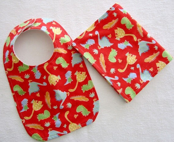 Oh Boy Bib and Burp Cloth Set