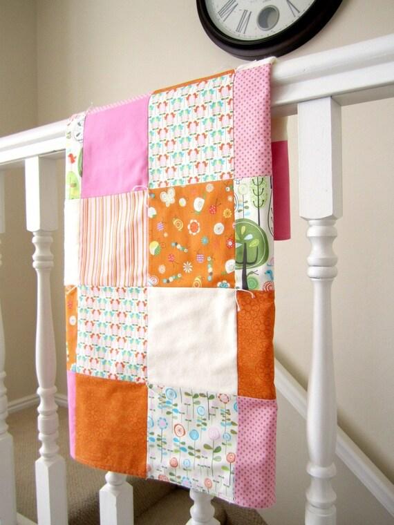 Happier Patchwork Baby Blanket