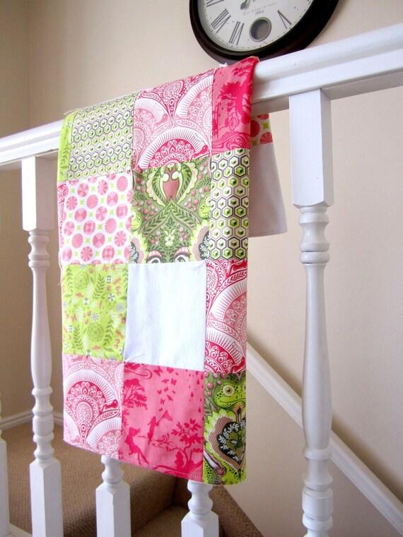 Isabella & Prince Charming Patchwork Minky Blanket -- Custom for Madelene