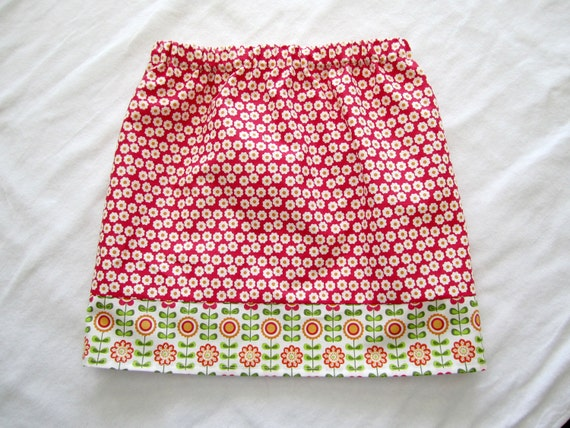 Mini Blooms Skirt -- 3-4 T -- Ready to Ship