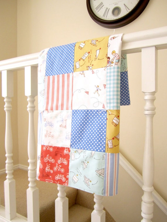 Over the Fence Patchwork Baby Blanket
