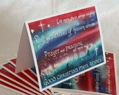 Watercolor Calligraphy Christmas Card Set of 10 Hymns of Rejoicing