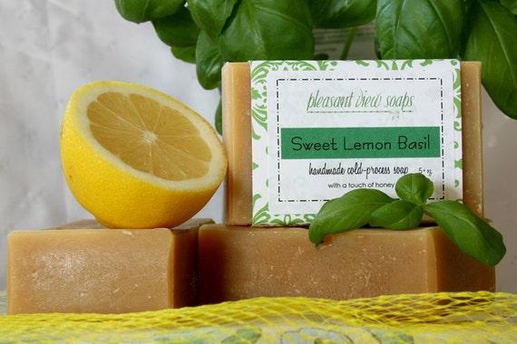 Sweet Lemon Basil Soap Jersey Milk Cold-Process Bar