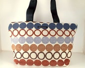 """TRUNK SHOW. Tote in """" Hula Hoops"""" Fabric. Made in San Francisco. Ready to ship."""