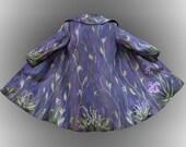 Hand felted merino wool coat jacket SPRING FLOWERS