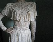 Victorian wedding dress, Vintage lace, romantic gown