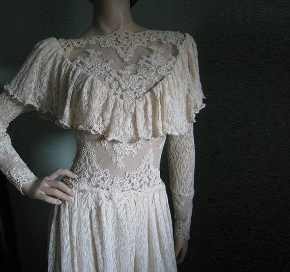 Victorian Wedding Dress Vintage Lace Romantic Gown