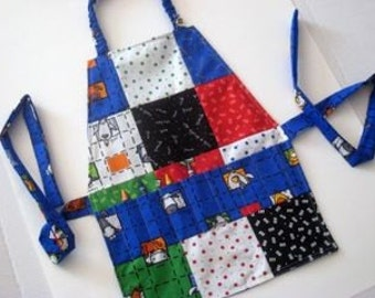 Crayon Apron  Sewing Pattern and Tutorial INSTANT Download