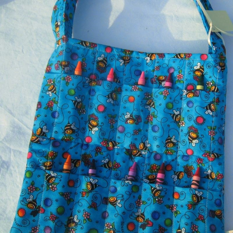 Crayon Tote Bag Bees By Quiltdream On Etsy