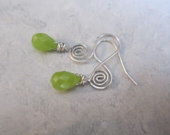 Jade Quartz Swirl Earrings