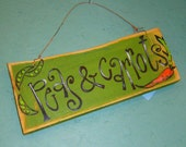 Peas And Carrots Sign