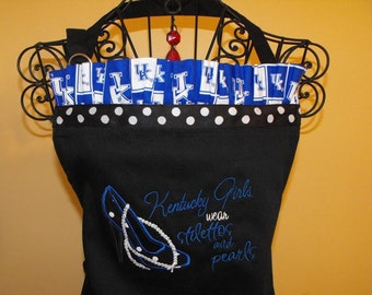 University of  Kentucky  Girls and Pearls Apron