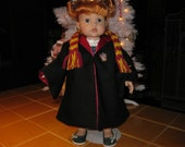 Wizard Robe and Scarf for 18 inch Doll