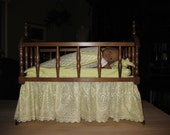 Cradle and Bedding Set for Baby Doll
