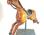 RESERVED FOR WRIGHTBACON Antique wooden horse