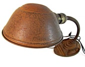 Vintage Eagle goose neck table lamp