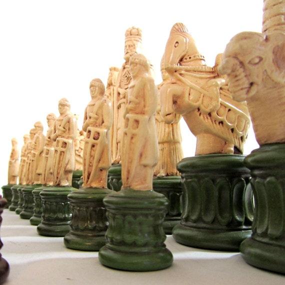 Vintage Chess Set Italian Renaissance Borgia Family