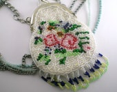 Beaded Coin Purse Necklace Recycle Vintage