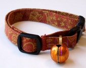 Cat collar with bell - adjustable - Red Rock
