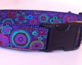 Dog Collar, Custom, Comfortable and Adjustable in Playful Purple