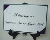 Wedding Signs-Signature Frame Guest Book Sign-Vintage Garden collection- Double Matted-Chopin Script