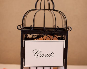 Cards Wedding sign with satin ribbon