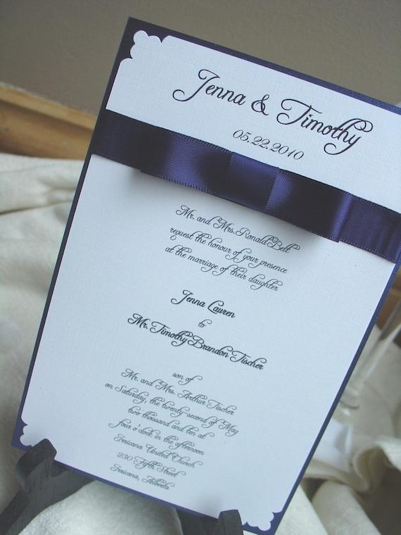 BowTie Affair Invitation- Wedding Invitation-Rehearsal Dinner-Formal Birthday