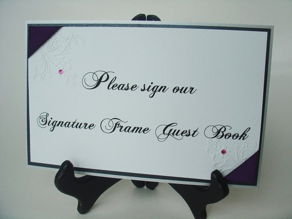 items similar to wedding signs signature frame guest book sign vintage garden collection double matted chopin script on etsy