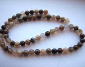 Wooden Agate Gemstone Beads 6mm FULL 16in STRAND